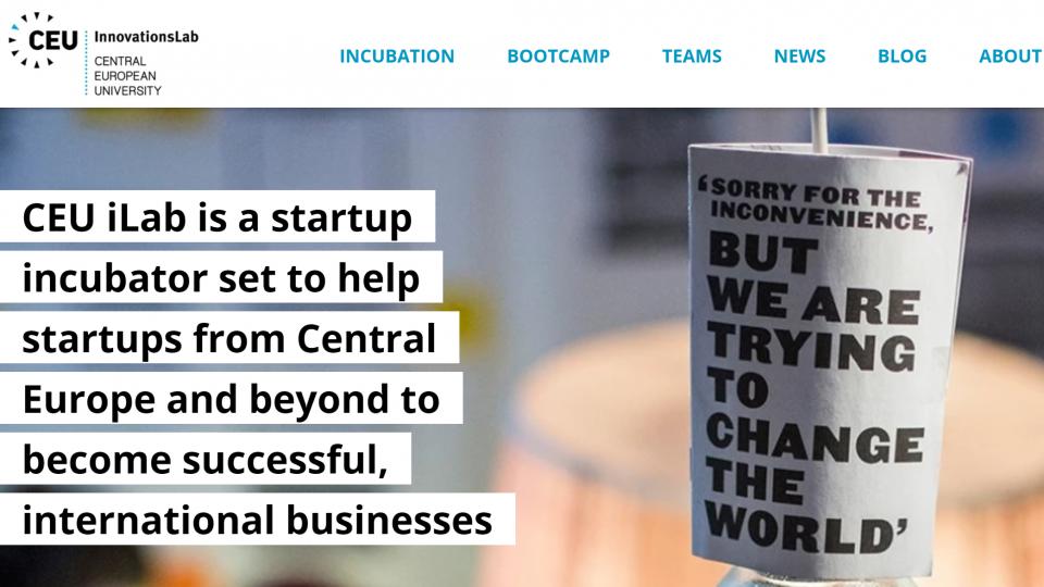 CEU InnovationsLab Startup Incubator