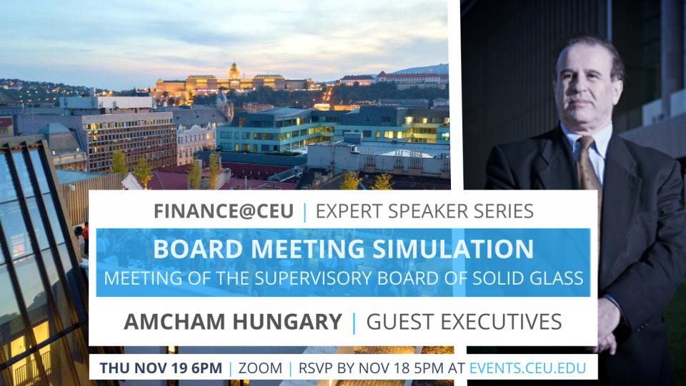 CEU MS in Finance Finance@CEU expert speaker series