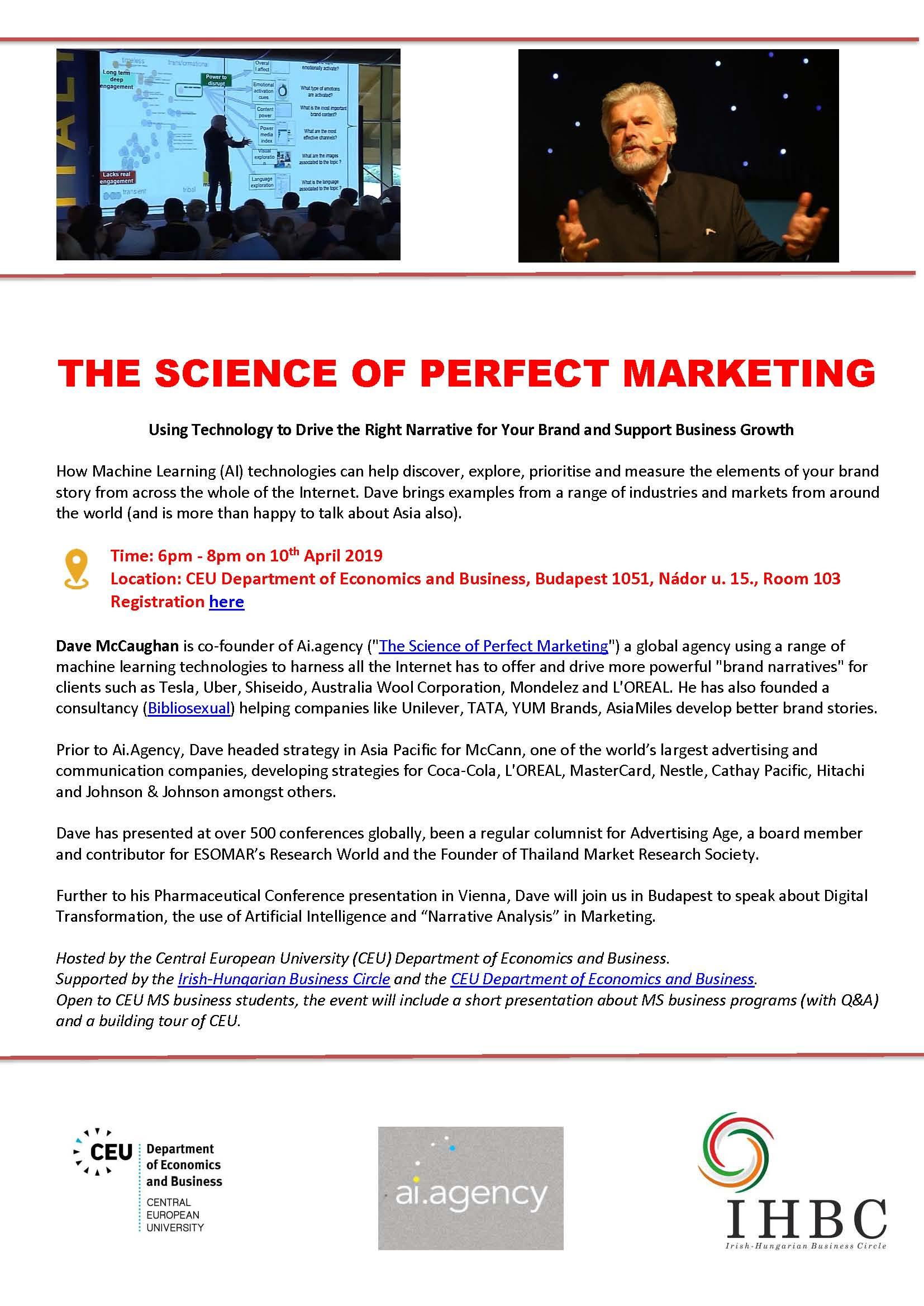 The Science of Perfect Marketing | Department of Economics