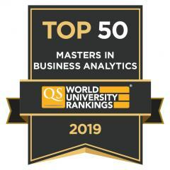 CEU MS in Business Analytics QS Ranking Top 50