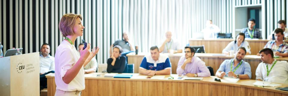 Ceu economics and business classroom
