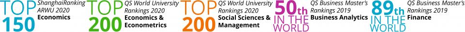 CEU Economics Business Rankings ShanghaiRanking ARWU QS economics econometrics social sciences management business analytics finance