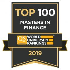 CEU Master in Finance QS Top 100 Ranking
